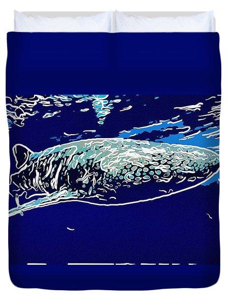 Whaleshark  Duvet Cover by Lanjee Chee