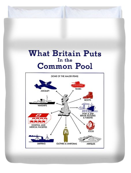 What Britain Puts In The Common Pool Duvet Cover by War Is Hell Store
