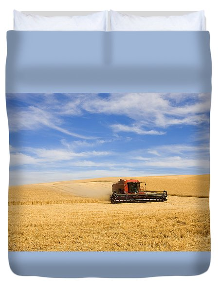 Wheat Harvest Duvet Cover by Mike  Dawson