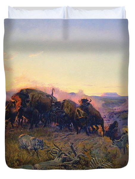 When The Land Belonged To God Duvet Cover by Charles Russell