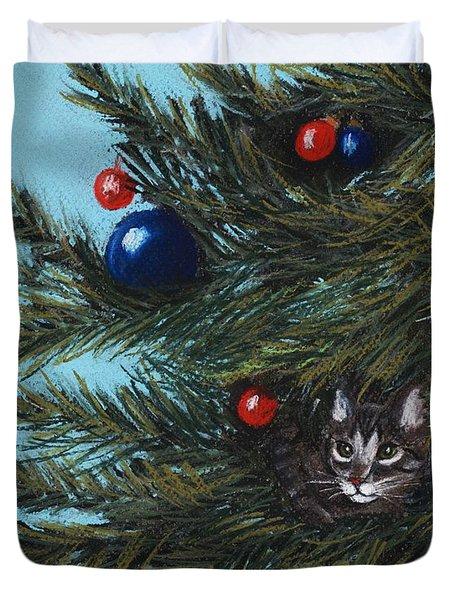 Where Is Santa Duvet Cover by Anastasiya Malakhova