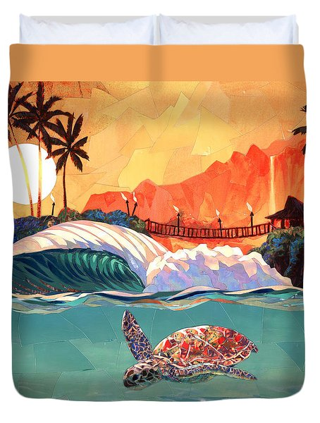 Where You Want To Be Duvet Cover by Patrick Parker