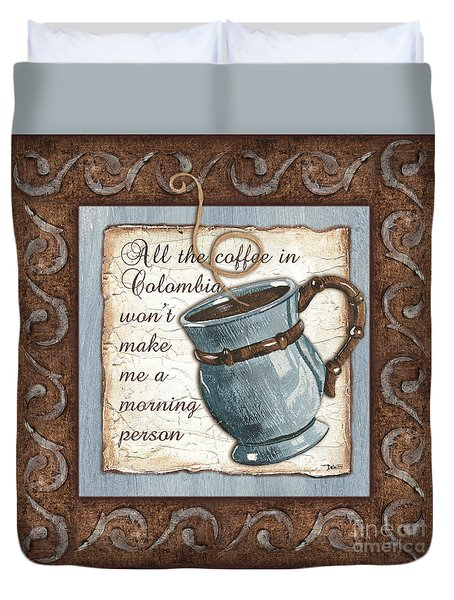 Whimsical Coffee 1 Duvet Cover by Debbie DeWitt