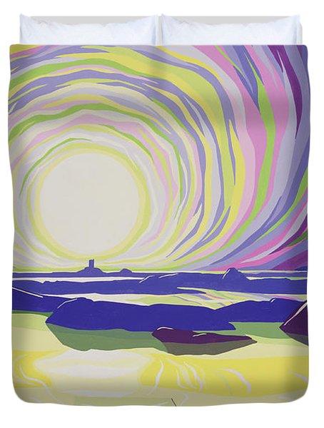 Whirling Sunrise - La Rocque Duvet Cover by Derek Crow