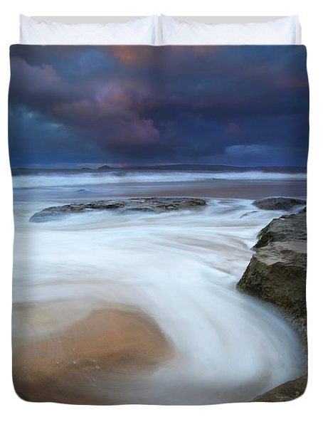 Whirlpool Dawn Duvet Cover by Mike  Dawson