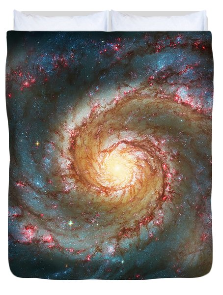 Whirlpool Galaxy  Duvet Cover by The  Vault - Jennifer Rondinelli Reilly