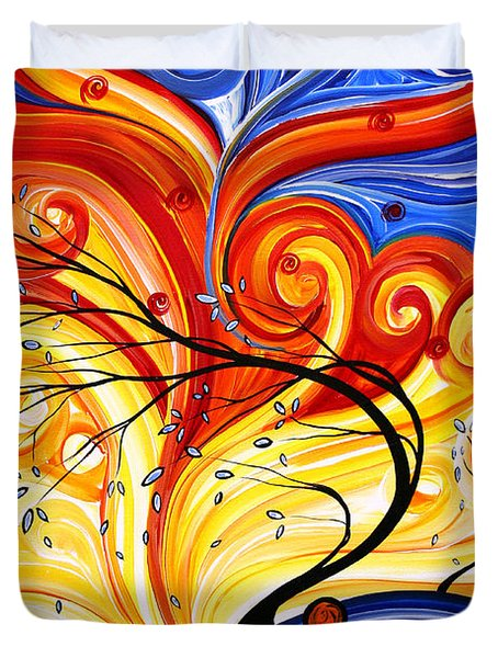 Whirlwind by MADART Duvet Cover by Megan Duncanson
