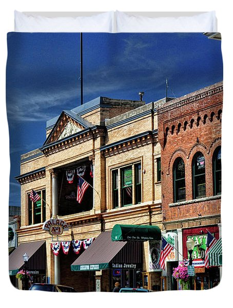 Whiskey Row - Prescott  Duvet Cover by Saija  Lehtonen
