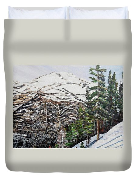 Whispering Pines Duvet Cover by Marilyn  McNish