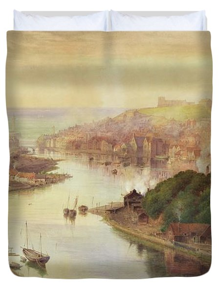 Whitby From Larpool Duvet Cover by John Sowden