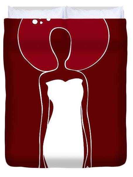 White Dress Duvet Cover by Frank Tschakert