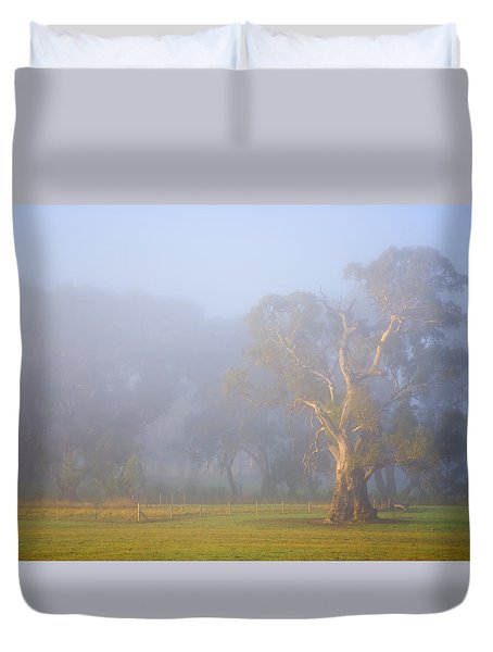 White Gum Morning Duvet Cover by Mike  Dawson
