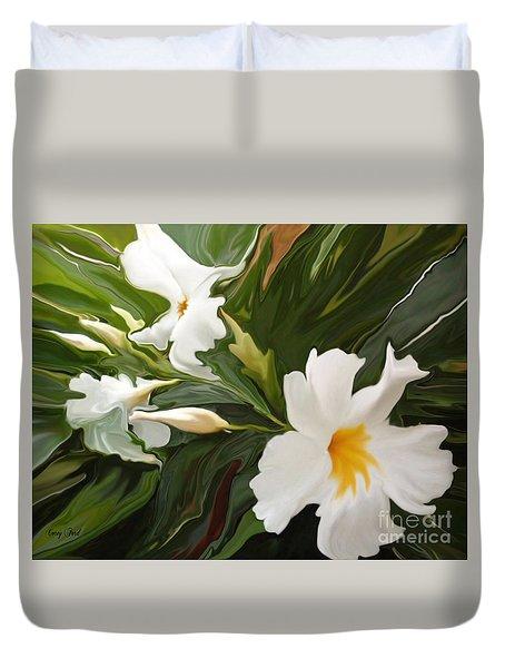 White Jasmine Duvet Cover by Corey Ford