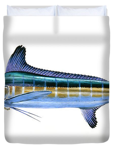 White Marlin Duvet Cover by Carey Chen