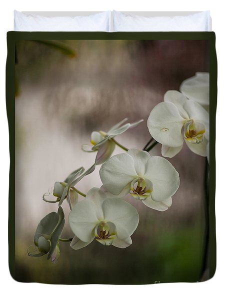 White Of The Evening Duvet Cover by Mike Reid