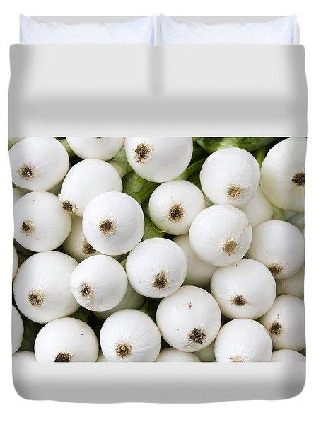 White Onions Duvet Cover by John Trax