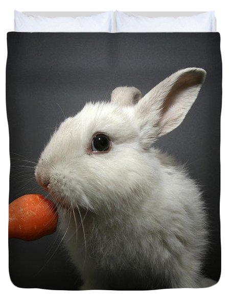 White Rabbit  Duvet Cover by Yedidya yos mizrachi