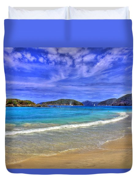 White Sands Beach Duvet Cover by Scott Mahon