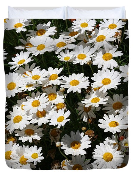 White Summer Daisies Duvet Cover by Christine Till