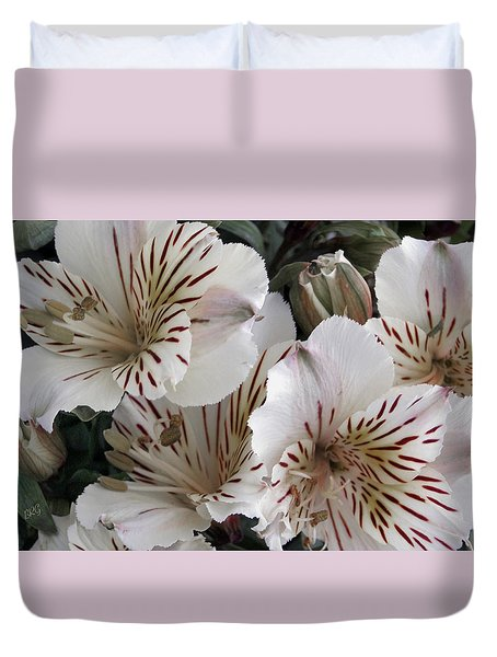 White Tiger Azalea Duvet Cover by Ben and Raisa Gertsberg