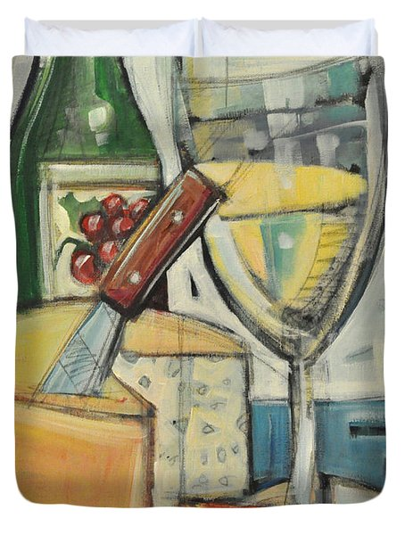 White Wine And Cheese Duvet Cover by Tim Nyberg