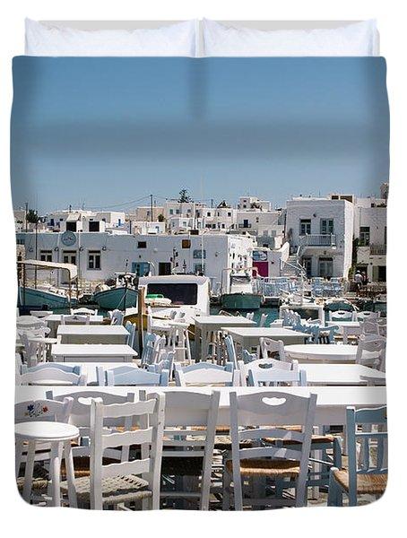 Whitewashed Naoussa Duvet Cover by Lorraine Devon Wilke