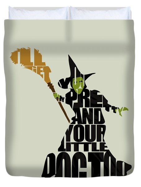 Wicked Witch Of The West Duvet Cover by Ayse Deniz