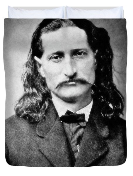 WILD BILL HICKOK - AMERICAN GUNFIGHTER LEGEND Duvet Cover by Daniel Hagerman