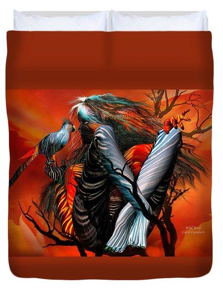 Wild Birds Duvet Cover by Carol Cavalaris
