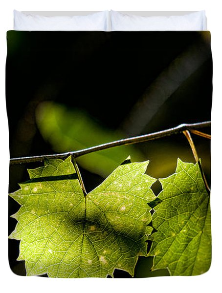 Wild Grape Leaves Duvet Cover by Christopher Holmes