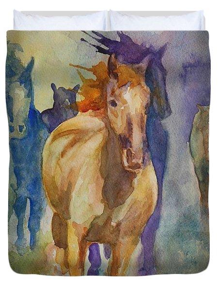 Wild Horses Duvet Cover by Gretchen Bjornson