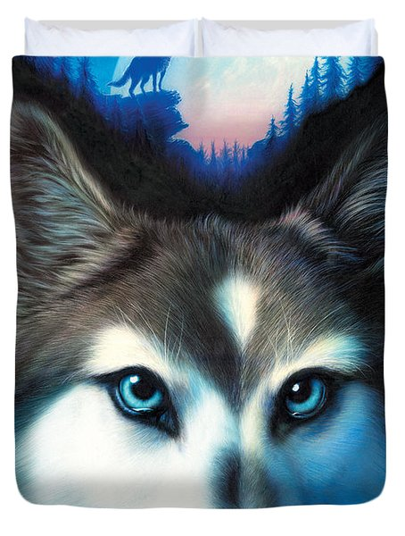 Wild One Duvet Cover by Andrew Farley