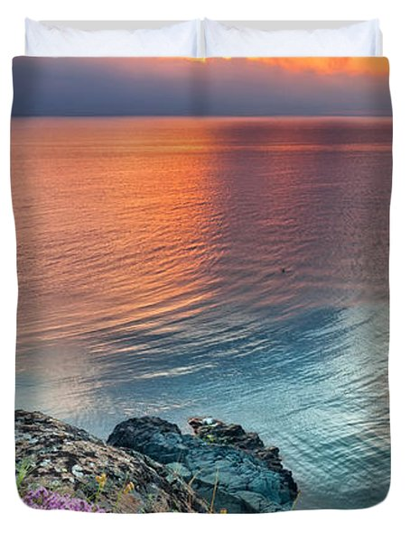 Wild Thyme By The Sea Duvet Cover by Evgeni Dinev