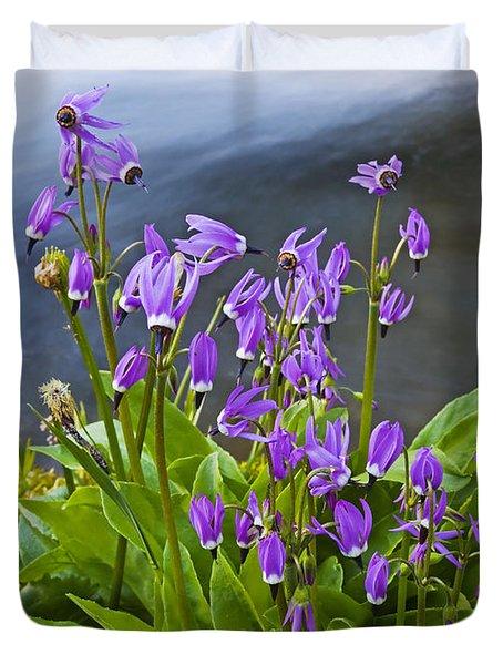 Wildflower Cascade Duvet Cover by Mike  Dawson