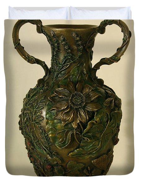 Wildflower Vase Balsamroot Side Duvet Cover by Dawn Senior-Trask