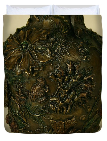 Wildflower Vase Detail Duvet Cover by Dawn Senior-Trask