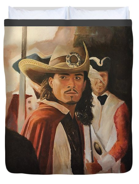 Will Turner Duvet Cover by Caleb Thomas