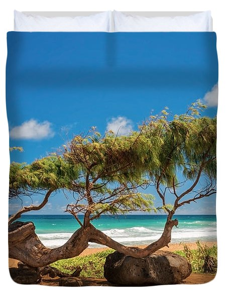 Wind Blown Tree Duvet Cover by Brian Harig