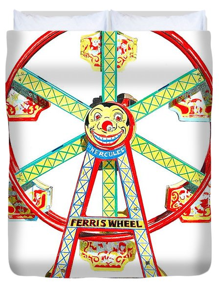 Wind-up Ferris Wheel Duvet Cover by Glenda Zuckerman
