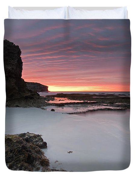 Window On Dawn Duvet Cover by Mike  Dawson