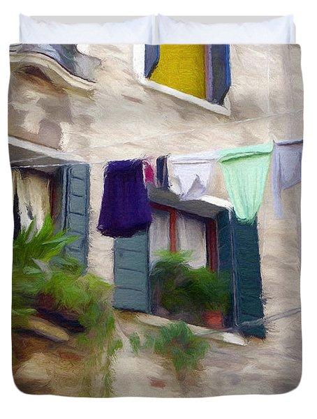 Windows Of Venice Duvet Cover by Jeff Kolker