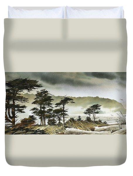 Windswept Shore Duvet Cover by James Williamson