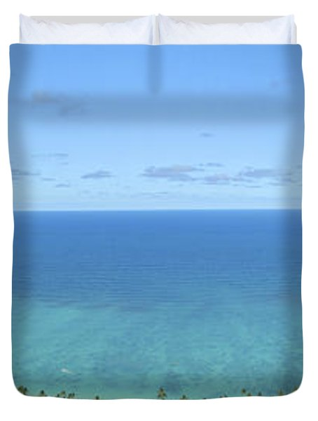 Windward Oahu Panorama II Duvet Cover by David Cornwell/First Light Pictures, Inc - Printscapes