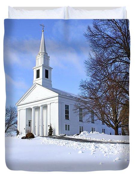Winter Church Duvet Cover by Evelina Kremsdorf