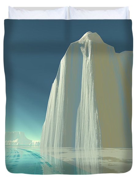 Winter Crystal Duvet Cover by Corey Ford