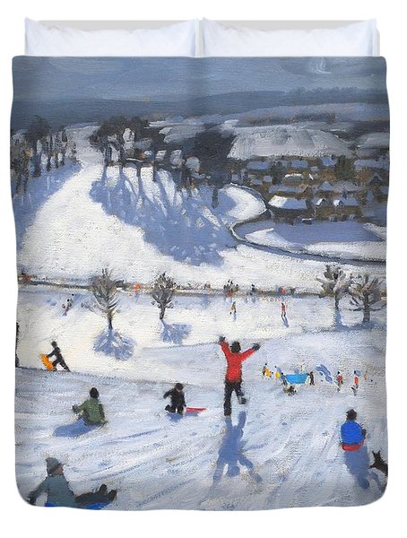 Winter Fun Duvet Cover by Andrew Macara