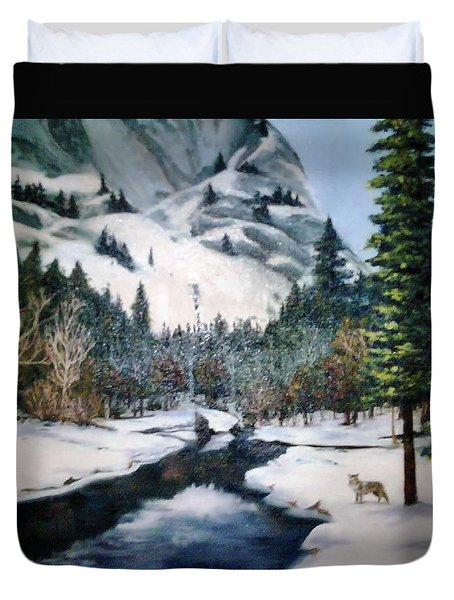 Winter Half Dome Duvet Cover by Beverly Johnson