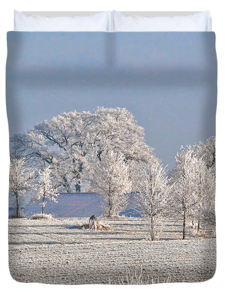 Winter In Canada Duvet Cover by Christine Till