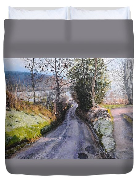 Winter in North Wales Duvet Cover by Harry Robertson