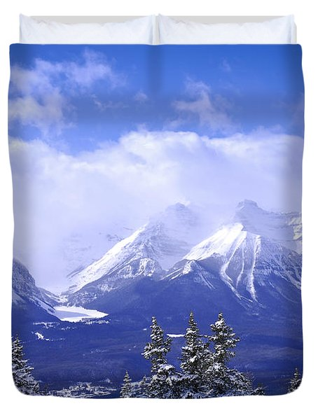 Winter Mountains Duvet Cover by Elena Elisseeva